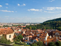 Prague view from the hill. Old city. Czechia Royalty Free Stock Image