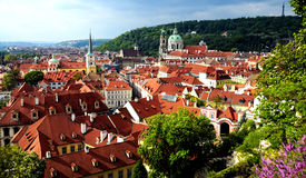 Prague - view of the historic city Stock Photos