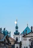 Prague moonrise Stock Photos