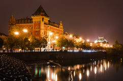 Prague view in the night, Czech Republic Royalty Free Stock Photo