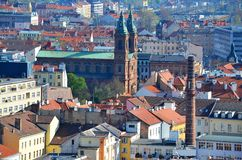 Prague - view from Petrin park Royalty Free Stock Images