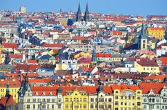 Prague - view from Petrin Royalty Free Stock Image