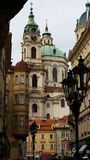 Prague. View from a Prague street Royalty Free Stock Image