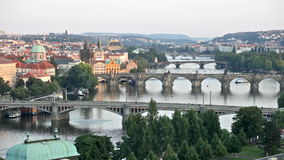 Prague, view of the Vltava River Royalty Free Stock Photo