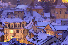 prague vinter Royaltyfri Fotografi