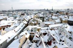 prague vinter Fotografering för Bildbyråer