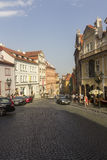 Prague visitors walking through historic Old Towns Royalty Free Stock Photo