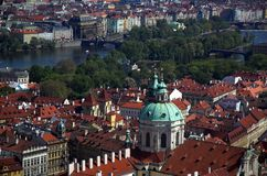 Prague Vista. View of Prague from St. Vitus Cathedral royalty free stock photography