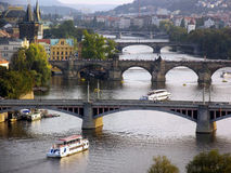 Prague Vlatava River Royalty Free Stock Images