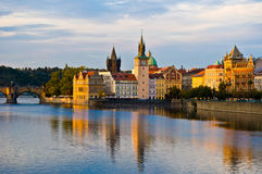 Prague and the Vltava Royalty Free Stock Images