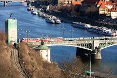 Prague and vltava Stock Photos