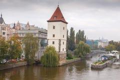 Prague Vltava Arkivfoton
