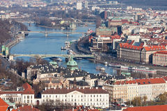 Prague. Vltava. Bridges. Royalty Free Stock Photos