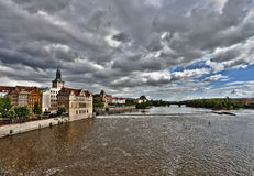 Prague. Vltava Stock Photo