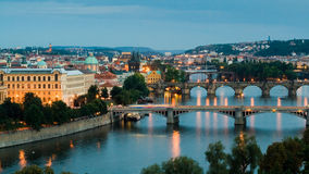 Prague and the Vltava River Stock Photo