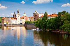 Prague And Vltava River Royalty Free Stock Image