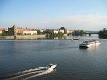 Prague Vltava River Stock Photo