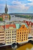 Prague Vltava River Stock Image