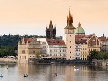 Prague, Vltava River. Stock Photo