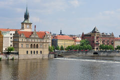 Prague and Vltava River, Czech Republic Stock Images