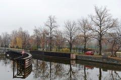 Prague. Vltava River Stock Photo