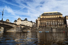 Prague from Vltava Stock Image