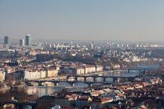 Prague. Vltava. Bridges. Royalty Free Stock Image