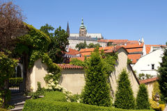 Prague - vrtba garden and hradcany castle Stock Images