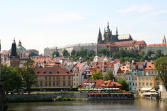Prague - vue de château image libre de droits