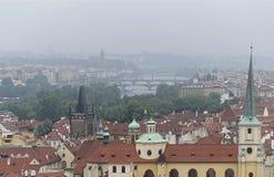 Prague vue du Château arkivbild