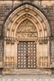 Prague, Vysehrad, decorated the door Stock Image