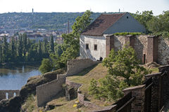 Prague - Vysehrad, ruins of the castle Royalty Free Stock Photo
