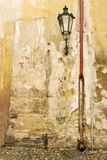 Prague Wall Texture. An old weathered wall abstract in Prage, Czech Republic Royalty Free Stock Photos