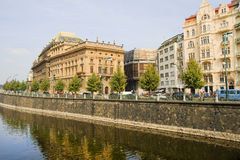 Prague Waterfront Royalty Free Stock Photos