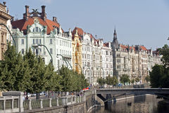 Prague - waterfront Royalty Free Stock Images
