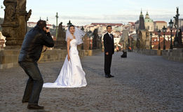 Prague wedding Royalty Free Stock Images