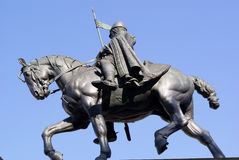 Prague, Wenceslas on horseback. Stock Photos