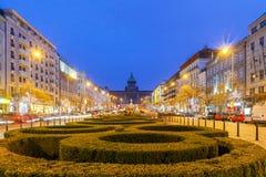 Prague. Wenceslas Square Royalty Free Stock Images