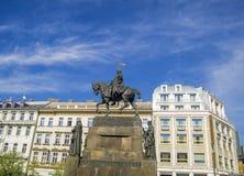 Prague, Wenceslas Square Royalty Free Stock Photos