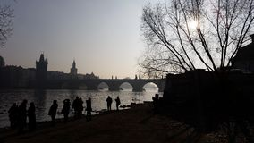 Prague. Wiew Of Charles bridge Stock Photography