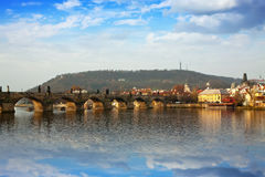 Prague wih Charles bridge. Czech Republic Royalty Free Stock Image