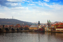 Prague wih Charles bridge Royalty Free Stock Photography