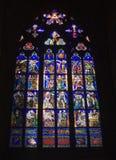 Prague - windowpane for gothic church Royalty Free Stock Image