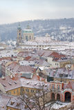 Prague in winter Royalty Free Stock Photo