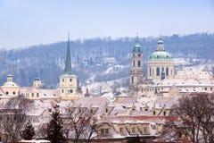 Prague in winter Royalty Free Stock Image