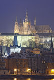 Prague in winter Stock Photography