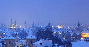 Prague in winter Stock Photo