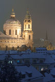 Prague in winter Royalty Free Stock Images