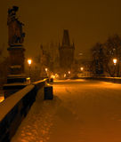 Prague in winter Royalty Free Stock Image