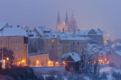 Prague in winter Stock Image